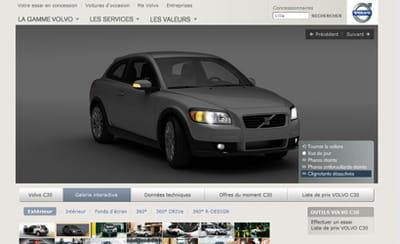 volvo permet d'interagir avec ses modèles, par exemple en allumant les phares