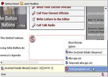 noscript permet de bloquer les contenus exécutables comme le javascript, java ou