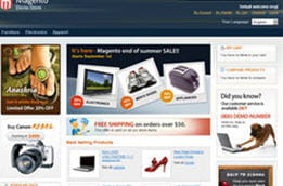 la solution e-commerce open source de magento (demo version)