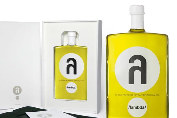 Un flacon d'huile d'olive Lambda