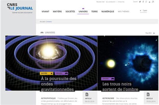 Le site Responsive Design du mois  : CNRS Le Journal