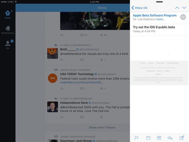 Bonus : iPad multitâche