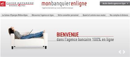 La Caisse D Epargne Rhone Alpes Inaugure Sa Banque En Ligne