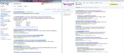 s'ils utilisent la même technologie, bing et yahoo search conserveront des
