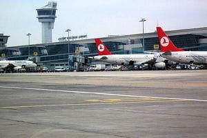 une vue de l'aéroport d'istanbul.