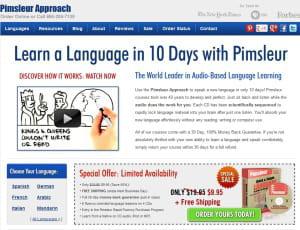 le site pimsleurapproach.com de stroll commercialise des cd d'apprentissage de