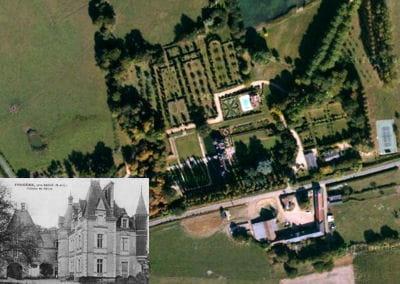 une vue aérienne du château de fougeré.