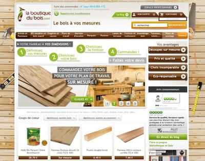 page d'accueil de laboutiquedubois.com