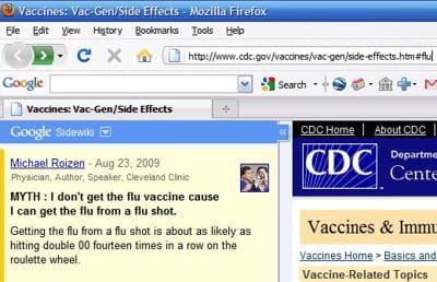 sidewiki propose aux internautes un moyen de commenter les pages web.