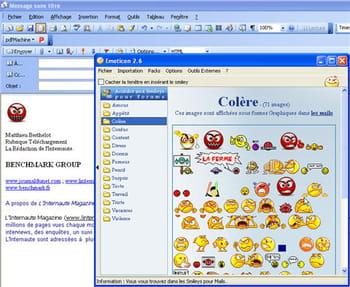 capture d'écran du logiciel
