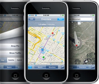 le smartphone d'apple embarque une puce gps