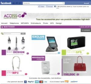 la f-boutique de accessandgo a été conçue par brand ministry avec pepita