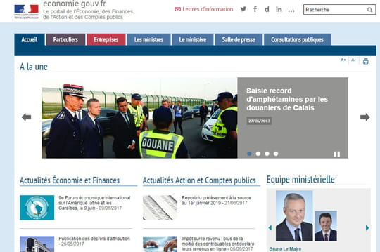 Audience Internet fixe en France: Bercy entre dans le top 10en mai