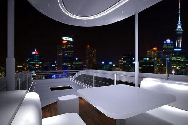 Un salon sur le toit