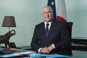 """Michel Sapin (ministre de l'Economie et des Finances):""""Je vais au CES pour soutenir les entrepreneurs"""""""