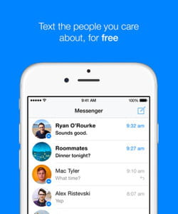 l'application de messagerie de facebook.