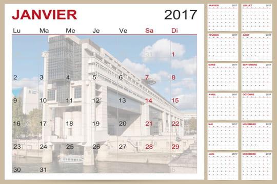 Impôts: mois par mois, tout ce qui vous attend en 2017