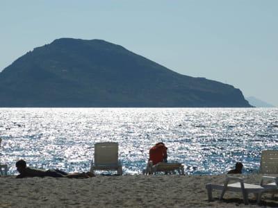 une plage turque, près de bodrum.