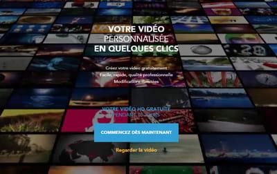en quelques clics, l'utilisateur se créer sa propre vidéo pro.