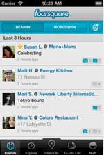 le réseau social géolocalisé foursquare
