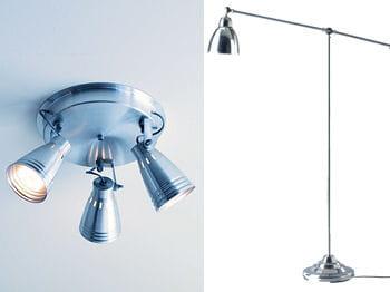 des spots ou lampadaires orientables vous permettent de jouer avec l'éclairage
