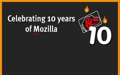 mozilla a soufflé le 31 mars 2008 ses 10 bougies.