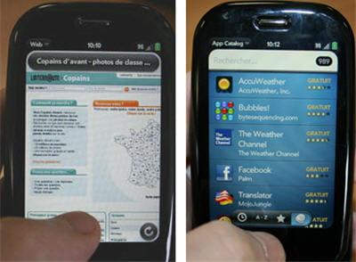 la navigation est claire, assez rapide, et à droite un aperçu de l'app store de