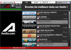 player des clubs sur le site awdio.fr