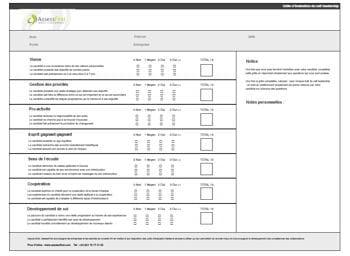 Grille valuation du leadership mod le gratuit de lettre - Grille d evaluation entretien annuel ...