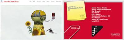 pages d'accueil des site d'euro rscg et d'havas media