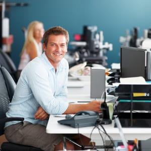 le confort de travail participe aussi à la bonne humeur des collaborateurs.