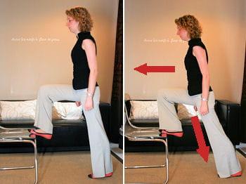 un assouplissement au niveau de la hanche permet égalementde relaxer les