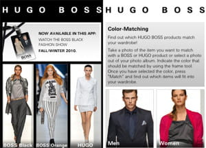 l'application iphone hugo boss