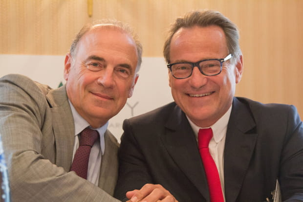 Pierre Bontemps de Coriolis Telecom et Guy-Hubert Bourgeois de Beijaflore