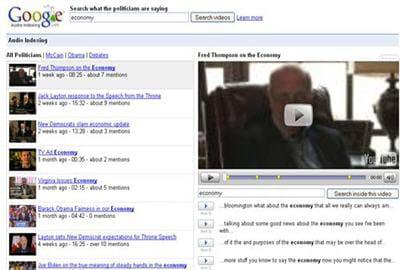 gaudi permet d'effectuer des recherches parmi des fichiers vidéo.