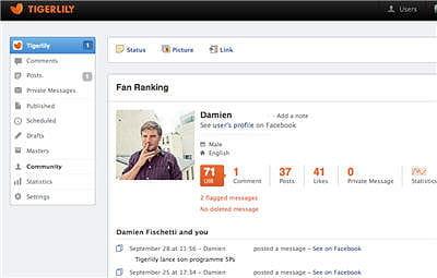 tigerlily permet d'identifier les fans et followers les plus actifs, les