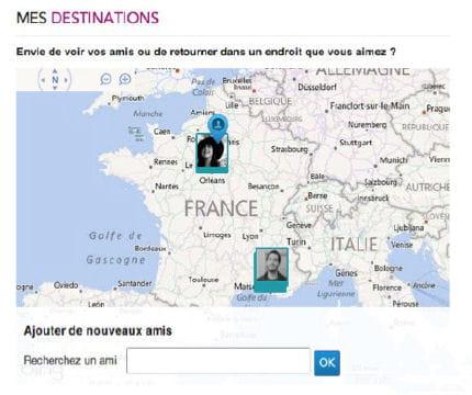 mes destinations