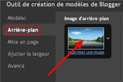 l'option 'choisir son fond d'écran' dans les paramètres d'apparence.