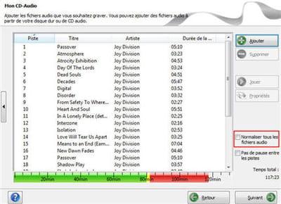une création rapide d'un cd audio avec nero express. on voit d'ailleurs en un