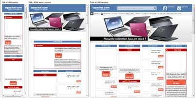 le site topachat.com est passé au responsive design fin 2012.