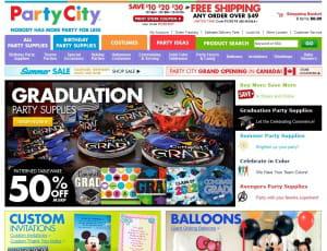 partycity.com commercialise des fournitures de fête