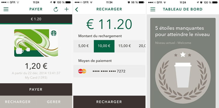 captures app starbucks france