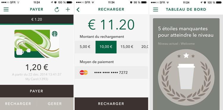 captures app starbucks france