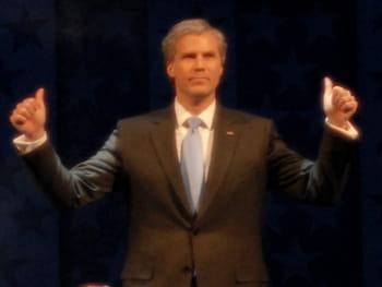 l'humoriste will ferrell parodiant l'ancien président américain george w. bush