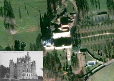 une vue aérienne du château de vataneins.