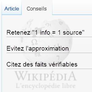la 'vérifiabilité' des informations est principes de wikipédia.