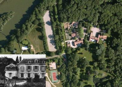 une vue aérienne du château du luet.