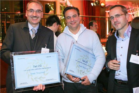 Jean-Richard Randé (Saab), AlainRoussel(LaChose) etLaurentMoindrot(BenchmarkGroup)