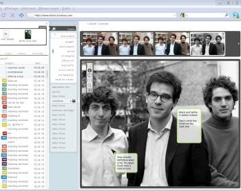 l'outil shortcut de netsas permet de collaborer sur un document graphique