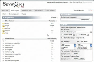 spywords implique de placer un tag sur chaque page du site web à analyser.